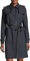 Valentino Button-Front Self-Tie Trench Coat