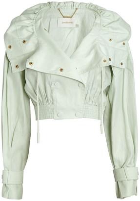 Zimmermann Glassy Cropped Linen Jacket