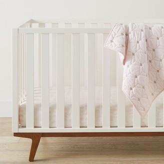 west elm Organic Half Moon Crib Fitted Sheet - Blush