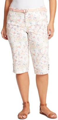 Gloria Vanderbilt Plus Size Mila Belted Skimmers