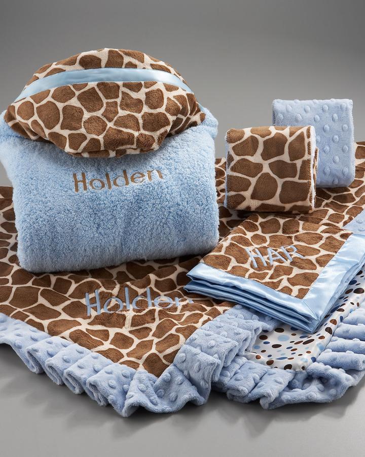 Swankie Blankie Giraffe Hooded Towel, Monogram