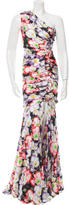 Naeem Khan Sleeveless Floral Print Gown