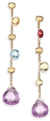 Marco Bicego Paradise Semi-Precious Multi-Stone Multicolor 18K Yellow Gold Drop Earrings