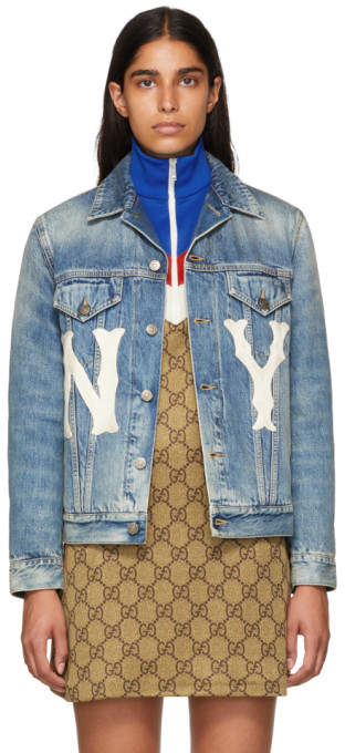 Gucci Blue New York Yankees Edition Denim Jacket