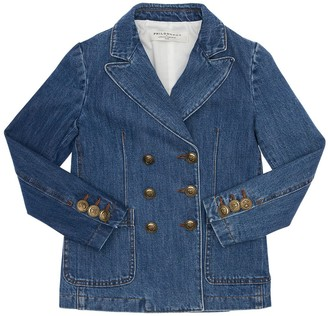 Philosophy di Lorenzo Serafini Double Breasted Cotton Denim Jacket