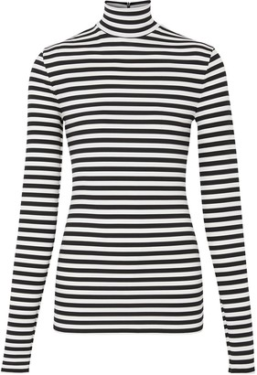 Burberry striped turtleneck T-shirt