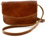 Dream Leather Bags Made in Italy Genuine Leather Mini Woman Crossbody Bag In Genuine Leather With 3 Compartments Color