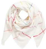 BP Women's Multicolor Grid Square Scarf