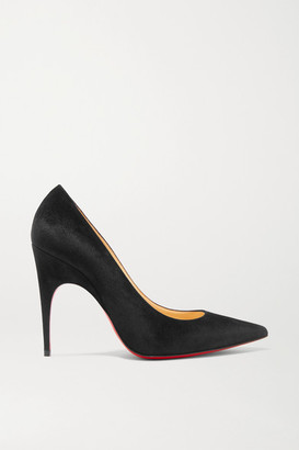 Christian Louboutin Alminette 100 Suede Pumps - Black