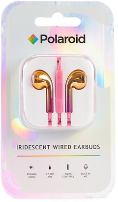 Polaroid Iridescent Wired Earbuds