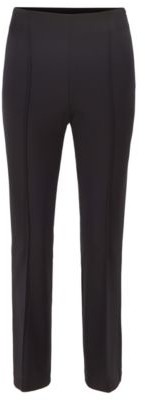 HUGO BOSS Cropped Slim Fit Pants In Stretch Twill - Black