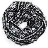 Muk Luks Women's Snowflake Nordic Wide Infinity Scarf