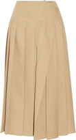 Rochas Pleated wool midi skirt