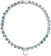 Ca&Lou Ca & Lou Swarovski Sapphire Letter Necklace