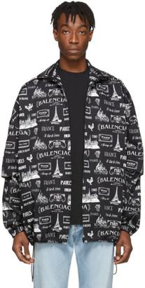 Balenciaga Black and White BB Double Sleeve Jacket