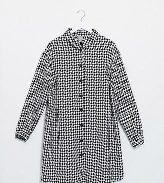 ASOS DESIGN Curve boucle mini shirt dress