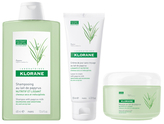 Klorane Unruly Hair Set: Shampoo, Mask & Leave-In Cream with Papyrus Milk