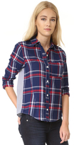 Clu Too Mix Media Plaid Shirt
