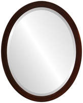 """The Oval And Round Mirror Store Manhattan Framed Oval Mirror in Mocha, 17""""x21"""""""