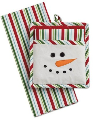 Dii DII Snowman Potholder & Dishtowel Set, 100% Cotton
