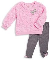 Nannette Girls 2-6x Faux Fur Sweater and Leggings Set
