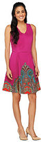 Isaac Mizrahi Live! Neoprene Engineered Paisley Dress
