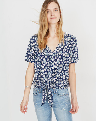 Madewell Novel Tie-Front Top in French Floral