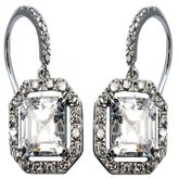 Sterling Silver Square Cut Clear Earrings