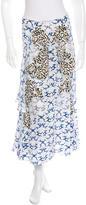 Stella McCartney Spring 2015 Silk Cloud Print Skirt