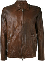 Giorgio Brato zipped jacket - men - Cotton/Leather/Nylon - 50