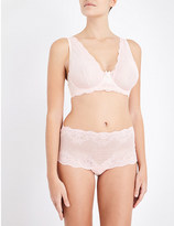 Mimi Holliday Sugared Almond stretch-lace non-padded shoulder bra