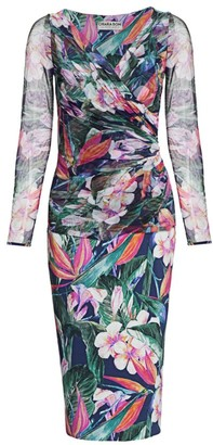 Chiara Boni Shana Illusion Wrap Dress