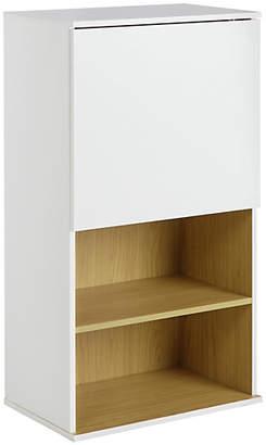 Hygena Modular Single Door Oak Wall Cabinet - White