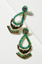 Anthropologie Marron Beaded Drop Earrings