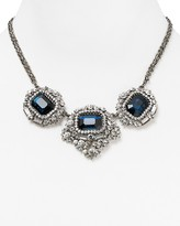 Cara Accessories Blue Stone Statement Necklace, 16""