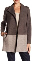 Lafayette 148 New York Valina Two-Tone Wool Blend Coat