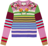 Gucci embroidered multicolour knit top - women - Nylon/Wool/Merino/Metallized Polyamide - L
