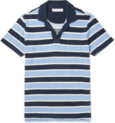 Orlebar Brown Slim-Fit Striped Cotton-Terry Polo Shirt