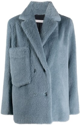 Inès & Marèchal Blue Double-Breasted Coat