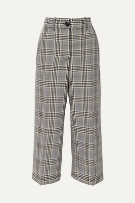MM6 MAISON MARGIELA Cropped Checked Wool-blend Pants - Gray