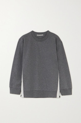 Stella McCartney Paneled Jersey Sweatshirt - Gray