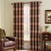 Bed Bath & Beyond Highland Check Grommet Top Window Curtain Panel