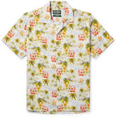 Gitman Brothers Camp-Collar Floral-Print Matte-Satin Shirt