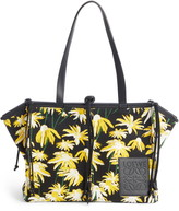 Loewe Cushion Daisy Leather Convertible Gusset Tote