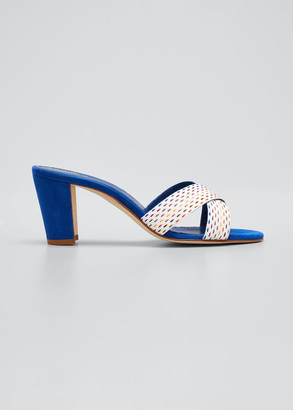 Manolo Blahnik Peopia Crisscross Slide Sandals