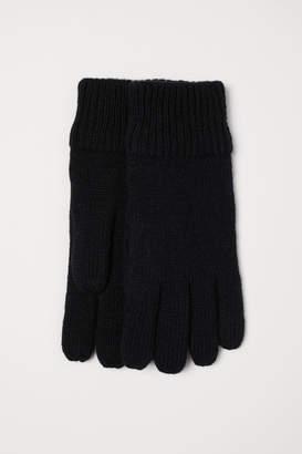 H&M Wool-blend Gloves - Black