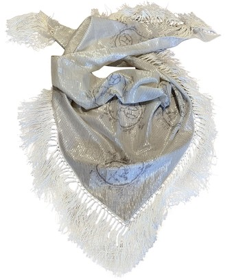 Hermã ̈S HermAs Pointu Silver Cotton Scarves
