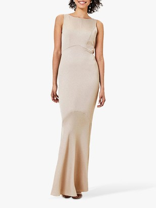 Oasis Cowl Back Slinky Maxi Dress , Gold