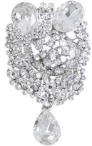 Ever Faith Flower Butterfly Drop Silver-Tone Wedding Brooch Pendant Austrian Crystal Pendant N02419-1