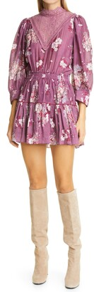 LoveShackFancy Viola Tiered Minidress